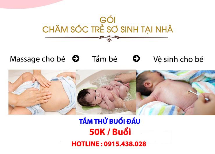 Dịch vụ tắm trẻ sơ sinh tại nhà hà nội uy tín