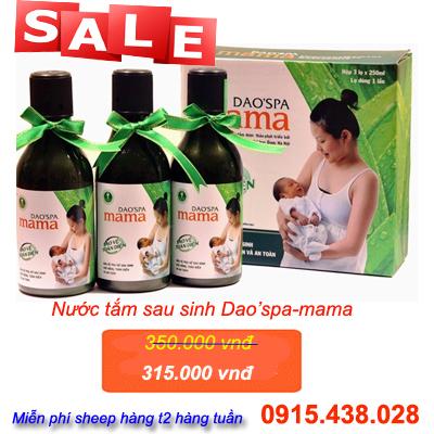 Nước tắm người Dao'Spa Mama cho Phụ Nữ Sau Sinh