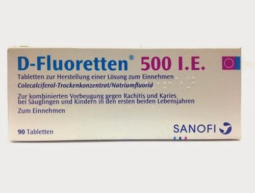 D fluoretten 500ie chống còi xương ở trẻ sơ sinh được không ?