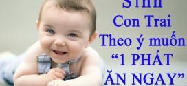 Kinh nghiệm sinh con trai theo ý muốn năm MẬU TUẤT 2018